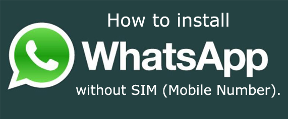 USE WHATSAPP WITHOUT PHONE NUMBER – KIDs 89